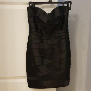 Black mini layered bebe dress